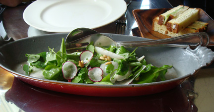 Watercress and radish salad