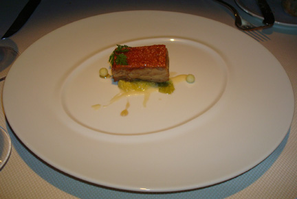 Crispy confit of suckling pig