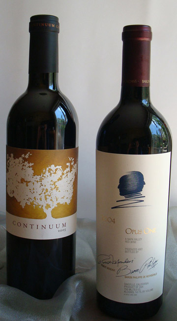 2005 Continuum and 2004 Opus One