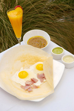 A modern take on a dosa. Photo by Chris Schmauch.