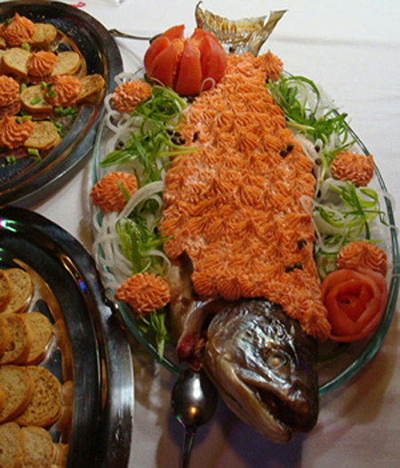 Salmon mousse at the cook-off