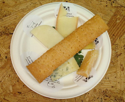 A sampling from the cheese pavilion.