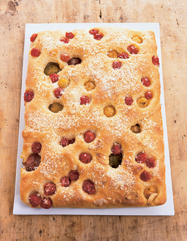 Cherry tomato focaccia. Photo by Victor Schrager. Recipe follows.