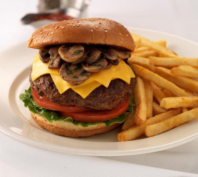 The Make-A-Wish Burger. Photo courtesy of Morton's.