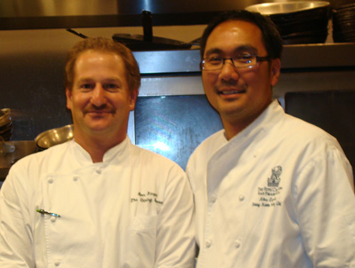 Siegel with Pastry Chef Alexander Espiritu