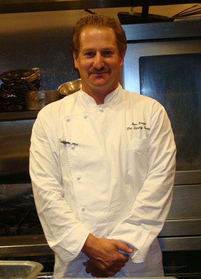 Chef Ron Siegel in the kitchen at the Cliff House in San Francisco