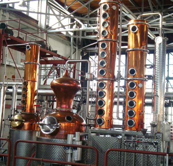 Sixty-five gallon copper stills at St. George Spirits
