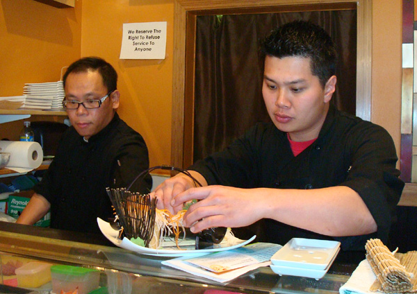 Co-chefs Raymond Ho (left) and Kin Lui (right).
