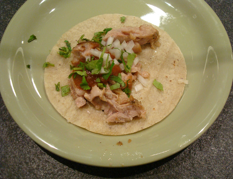 Soft pork taco is served at the new California Academy of Sciences -- a vast improvement on what once was offered.