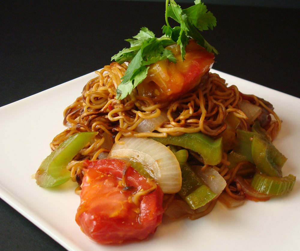 My favorite tomato beef chow mein. Recipe follows at the end.
