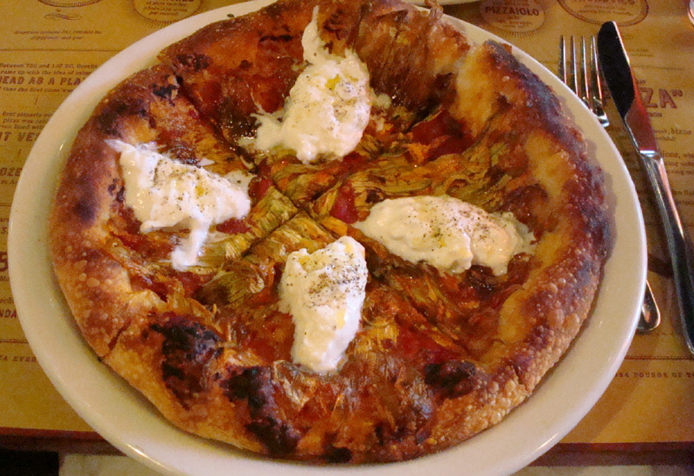 Burrata pizza. Oh my god....