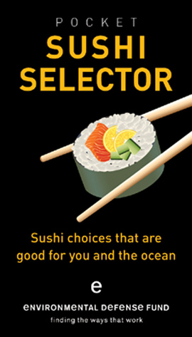 One of the new sustainable sushi guides.