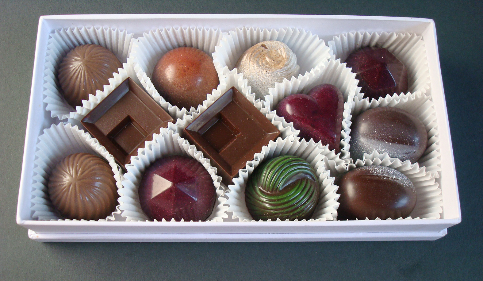 Bright, bold, and beautiful chocolates from Chocolatier Blue.