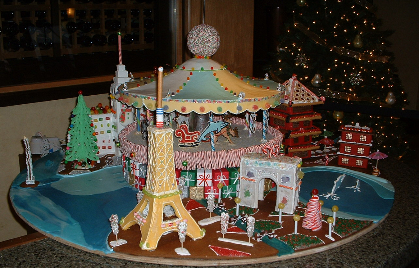 The 2007 gingerbread creation crafted by Pastry Chef Carlos Sanchez of Parcel 104.