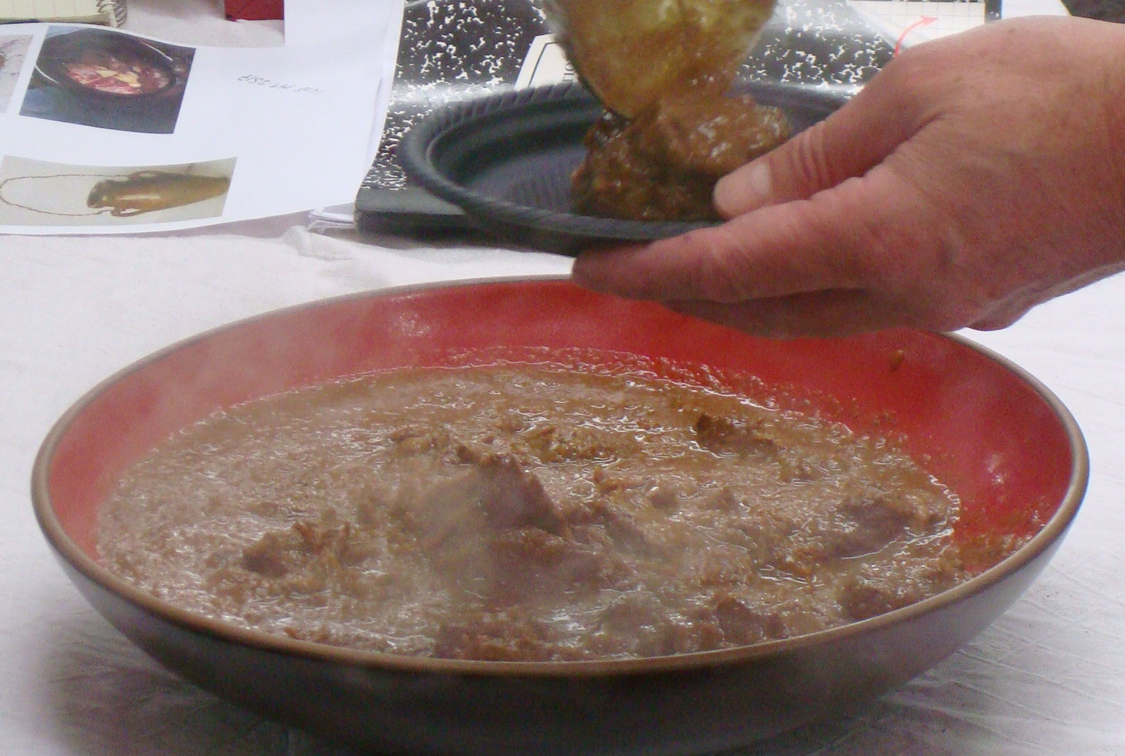 Saucy Moroccan lamb tangia