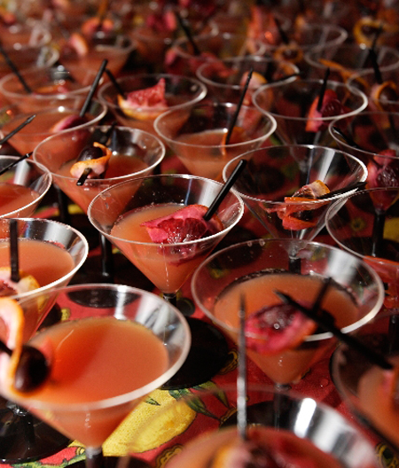 Martinis galore at last year's cocktail celebration. (Photo courtesy of Douglas Thompson)