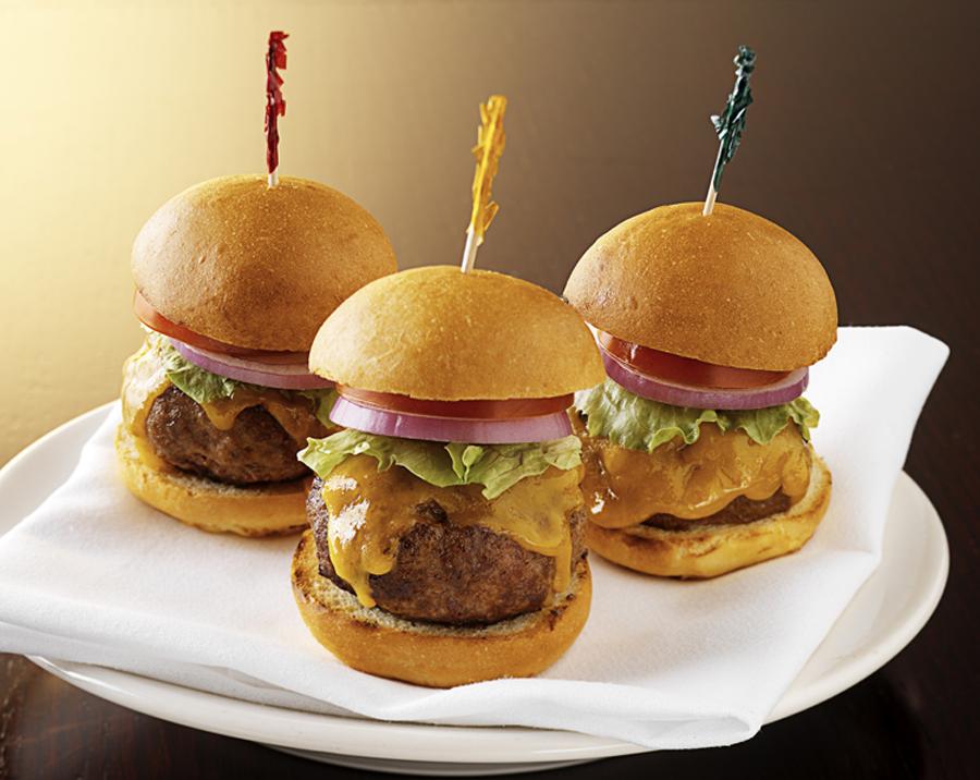 Morton's free burgers (photo courtesy of Morton's).