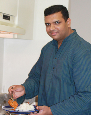 Executive Chef Vittal Shetty cooks in his home kitchen.