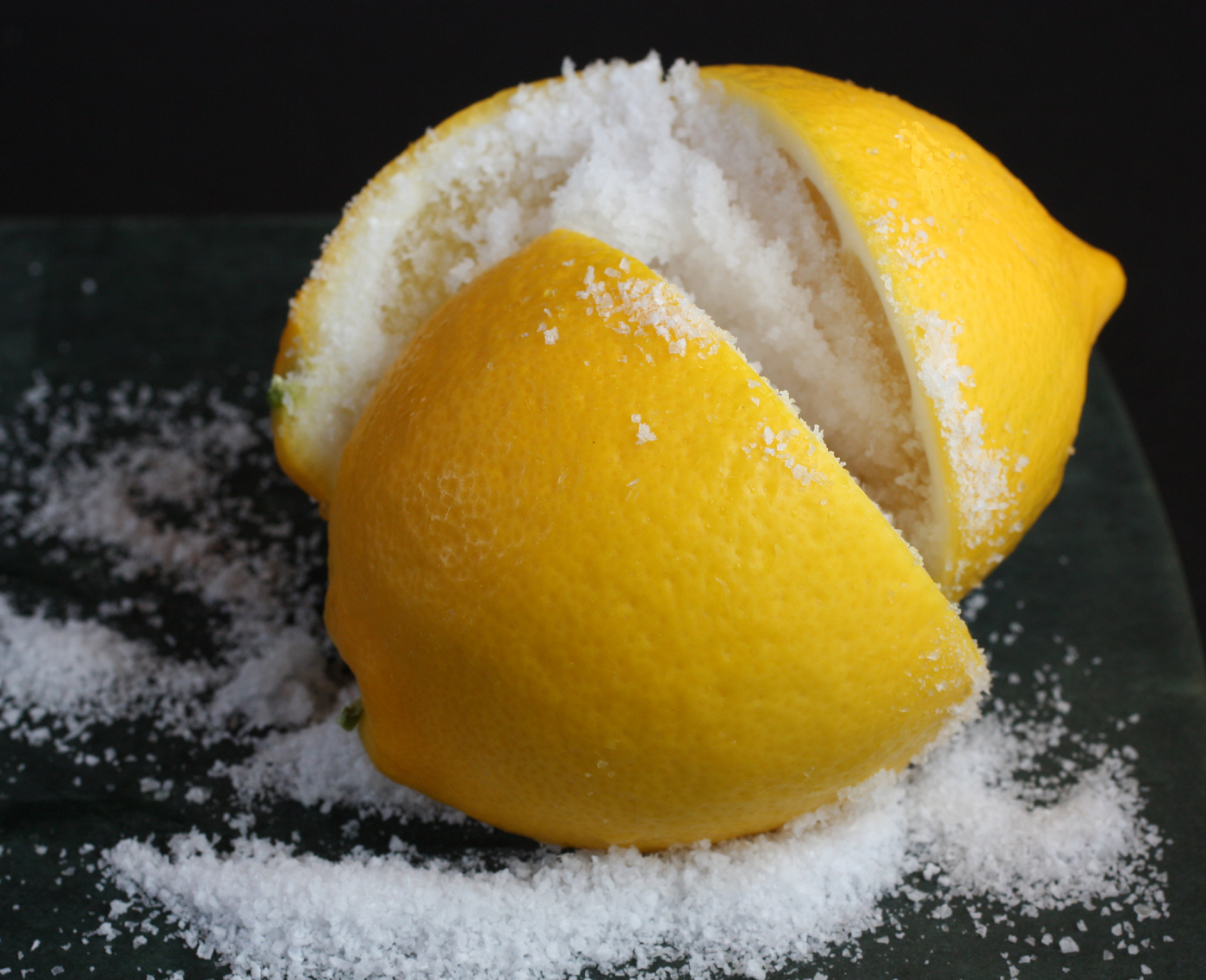 Salt Preserved Meyer Lemons Recipe — Dishmaps