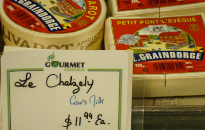 Find a good selection of French cheeses.