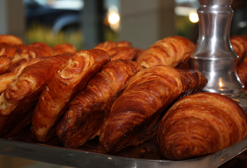 Flaky, buttery croissants at the new Mayfield Bakery & Cafe.