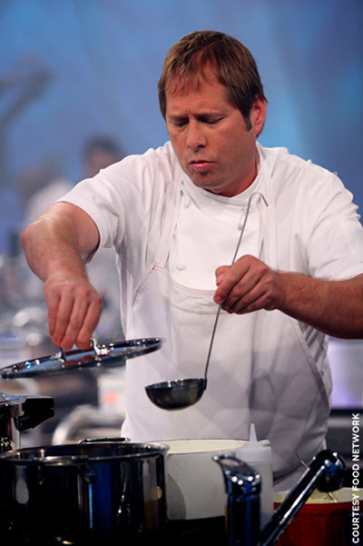 "David Kinch of Manresa restaurant challenges on ""Iron Chef America.'' (Photo courtesy of the Food Network)"