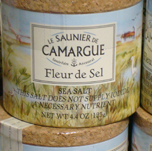 French sea salt.