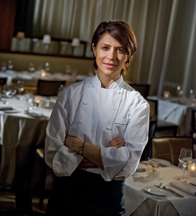 Chef Dominique Crenn of Luce restaurant. (Photo courtesy of the InterContinental Hotel)