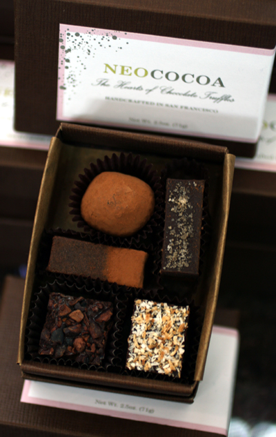 San Francisco's Neococoa truffles made with organic, fair trade, and local ingredients.