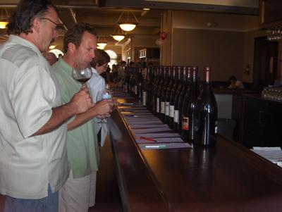 Tasting Pinot at last year's Pinot Paradise. (Photo courtesy of the Santa Cruz Mountains Winery Association)