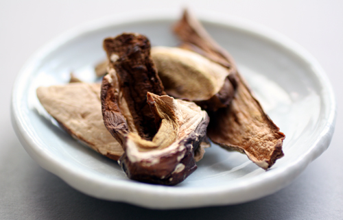 Dried porcini.