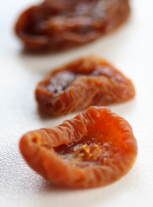 Memories of dried apricots.