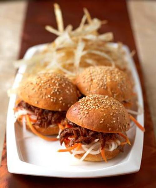 Beef short rib sliders. (Photo courtesy of E&O Trading Company)
