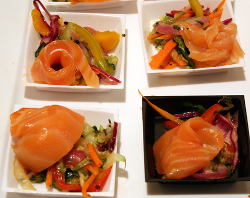 Lemongrass cured salmon by Jennifer Coco of Flatiron Cafe.