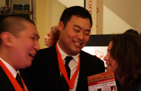David Chang of Momofuku Ko. (center)