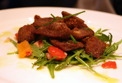 Nuggets of fried goat tongue