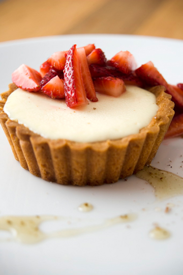 Devonshire cream tart with strawberries. (Photo courtesy of Martins West Pub)