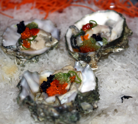 Sustainable oysters on the half shell.