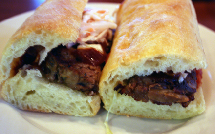 Pork rib sandwiches