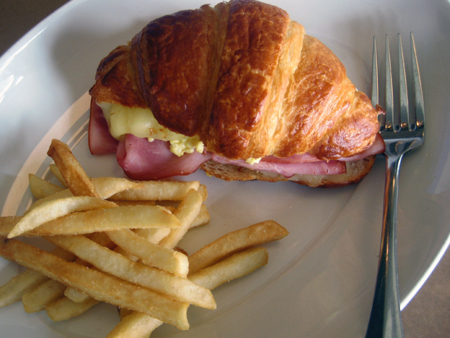 Buttery croissant sandwich at Mayfield Bakery & Cafe. (Photo courtesy of the restaurant)