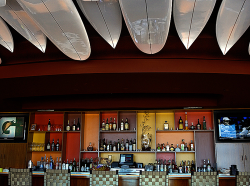 The fun bar at Aquarius restaurant. (Photo courtesy of Matthew Millman)