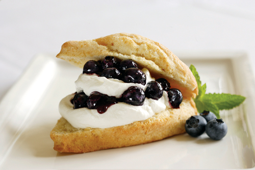 Blueberry shortcake for a good cause. (Photo courtesy of McCormick &#038; Kuleto's)