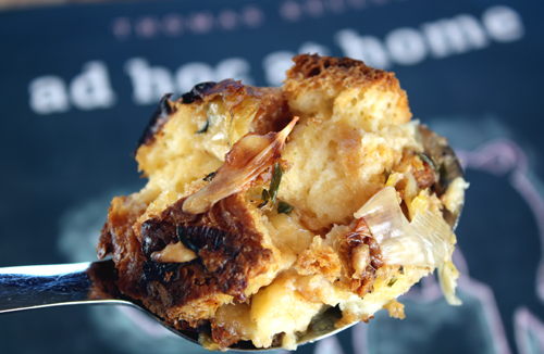 Bread pudding that's super rich, yet light as a souffle.