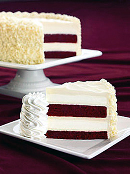 Red Velvet cheesecake for a good cause. (Photo courtesy of the Cheesecake Factory)