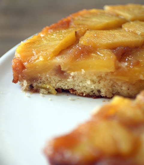 My first attempt at pineapple upside-down cake.