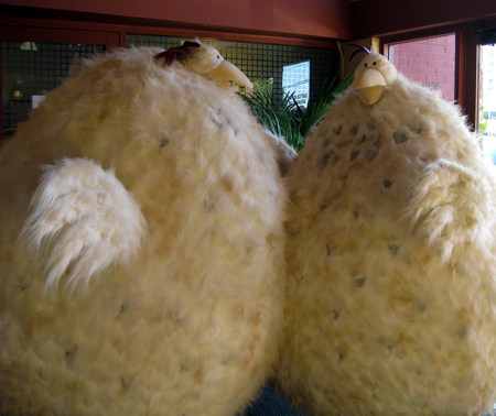 Meet the (in)famous Foster Imposter Chickens at the Gilroy Garlic Festival. (Photo courtesy of Foster Farms)