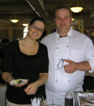 Chef Ross Hanson and his wife of Restaurant James Randall. (Photo courtesy of Laura Ness)