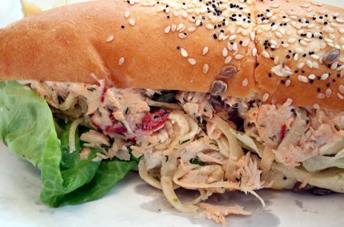 The tastiest tuna sandwich ever.