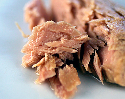 Pricey, imported tuna in olive oil.