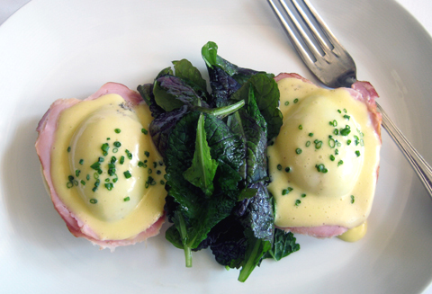 Eggs Benedict. (Photo courtesy of the Village Pub)